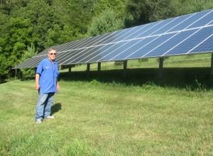 Hill solar panels