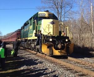 Santa train arrives Yale