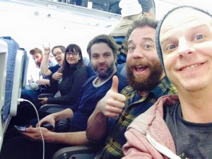 strumbellas on plane